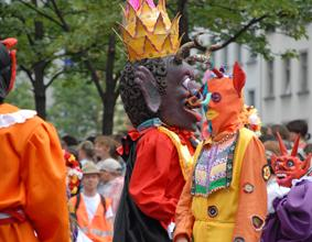 The Carnival Of Cultures in Berlininside